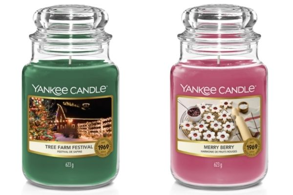 Yankee Candle Countdown To Christmas - Tree Farm Festival and Merry Berry Candles