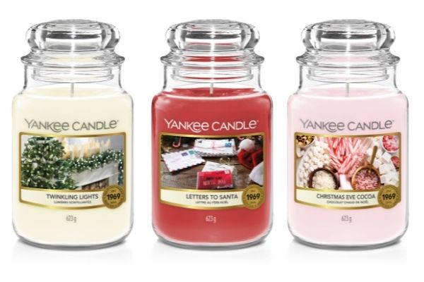 Yankee Candle Countdown To Christmas - Twinkling Lights Letters to Santa and Christmas Eve Cocoa candles