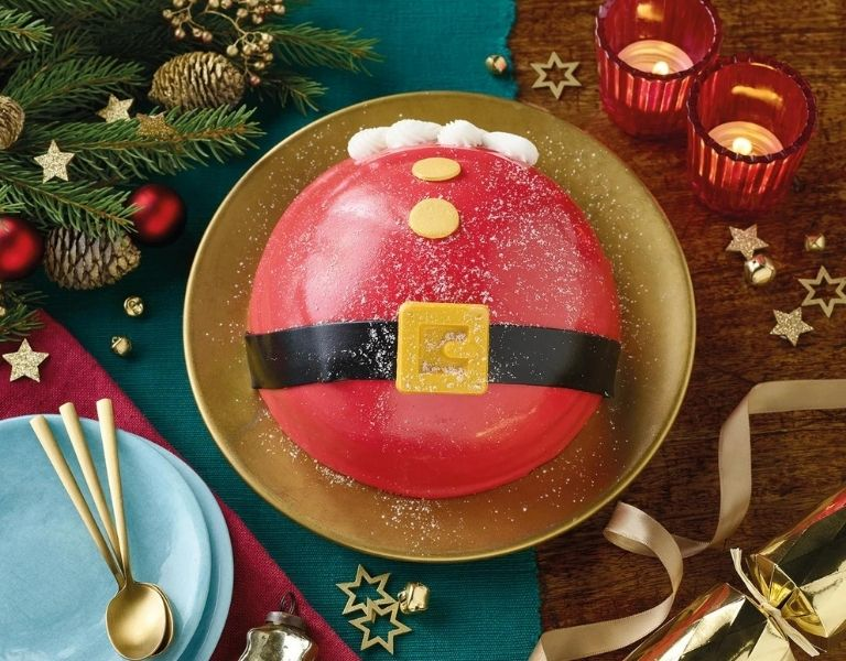 Image Of Morrisons Santa Belly Cake
