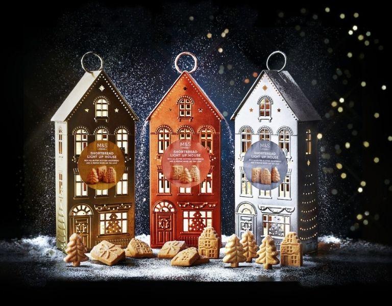 M&S Shortbread Light-Up Houses