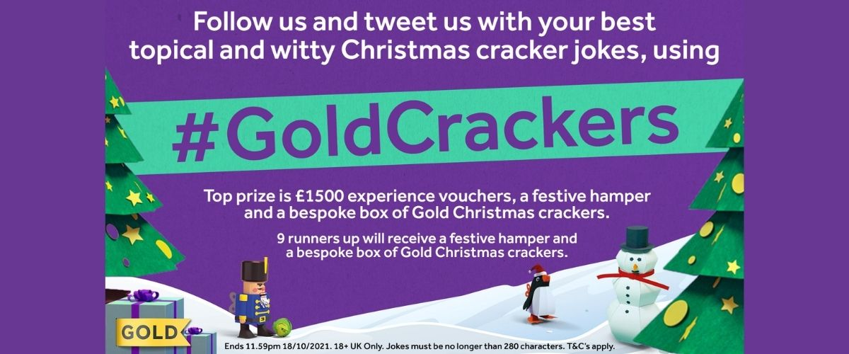 Gold Christmas Crackers joke competition 2021