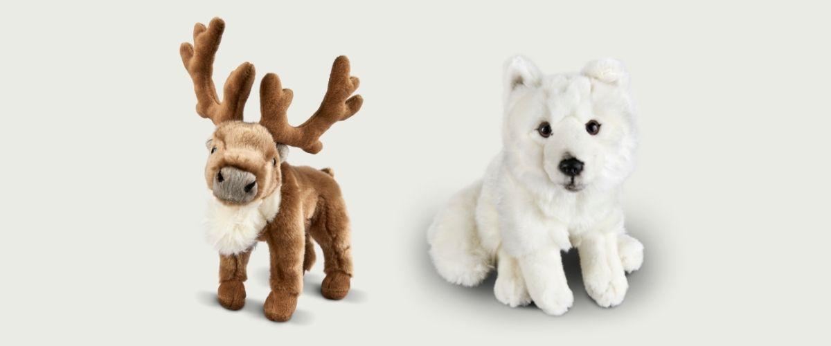 Living Nature Standing Reindeer and Arctic Fox