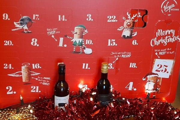 Virgin Wines Mixed Wine Advent Calendar open